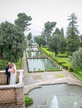 svatba v Tivoli u Říma