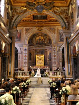 Církevní svatba v St. Bartolomeo