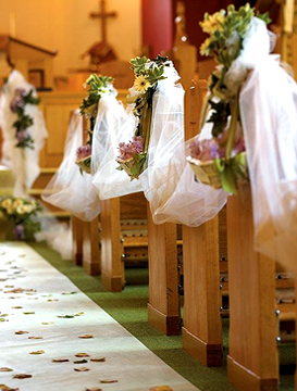 církevní svatebni obrad Santa Contanza