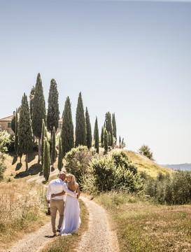 Civilní svatební obřad v Toskánsku - Pienza