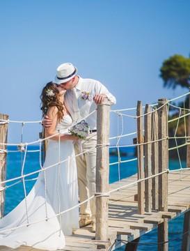 svatba na ostrůvku Cameo, Zakynthos, Řecko