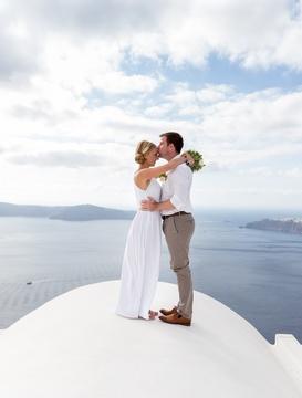 svatba na Santorini
