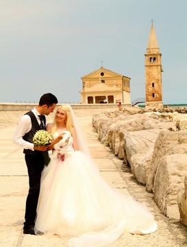 Civilní svatební obřad v Itálii u moře - Caorle